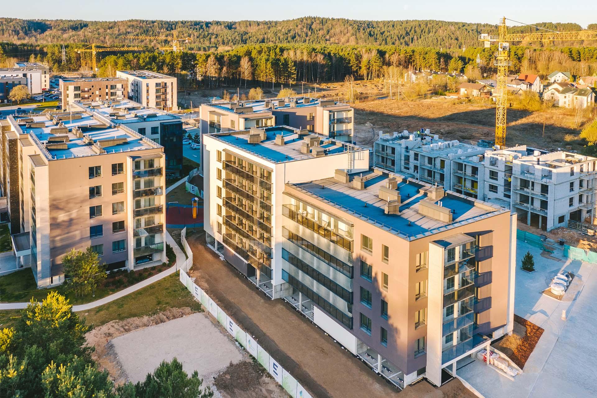 parduodami nauji butai Vilniuje, Lazdynėliuose